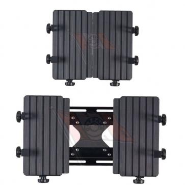 """T-Tisch, Aluminium schwarz, 253 x 200 mm, passend für Notebooks von 12"""" - 15.4"""", Einspannbereich 253-370 x 330-273 mm"""