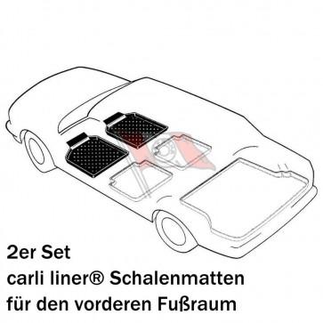 VW Caddy III + IV Kastenwagen Bj. 02.04-, carli liner Schalenmatten für Fußraum vorne