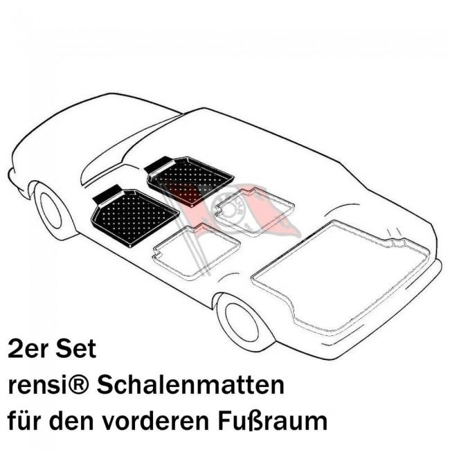 rensi Schalenmatten// Fußmatten für Renault Kangoo KC