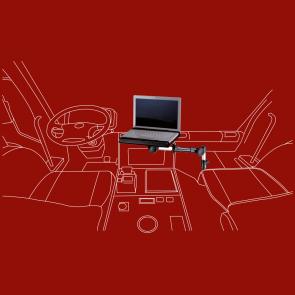 KFZ-Halter für Laptops/ Notebooks und Netbooks – Zahngelenkkopf, A-070N