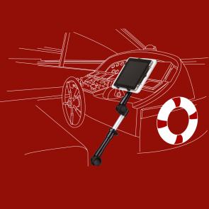 KFZ-Halter für Netbooks, Tablets, Kameras - Kugelkopfgelenk, A-350