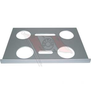 """A-Tisch, Aluminium silber, 320 x 230 mm, mit 1/4 Zoll Innengewinde, passend für Notebooks von 12"""" -16"""", Befestigung Tischkante + 2 Klettbänder"""