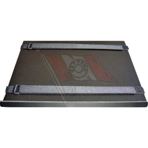 """N-Tisch, Aluminium schwarz, 320 x 250 mm, passend für Notebooks von 12"""" - 16"""", Befestigung Tischkante + 2 Klettbänder"""