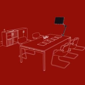 Office-iPad-Halter, Tablethalter mit Schraubklemme, SL-C