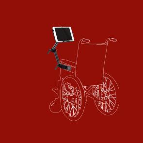 Office iPad Halter, Netbookhalterung mit Schraubklemme für Schreibtisch, Rollstuhl, usw., SL-W